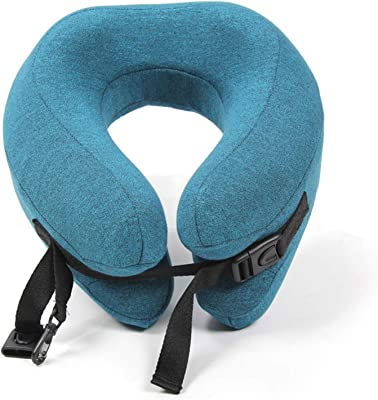 BounciCircle Travel Pillow Memory Foam Neck Pillow for Airplane- Sleep Better While Traveling- Comfortable Airplane Pillow Portable with Breathable & Washable Cover, for Train Plane Car Seat