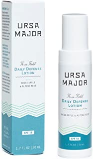 Ursa Major Natural Moisturizer with SPF 18 | Daily Defense Lotion | Vegan & Cruelty-Free Sunscreen | For Men and Women | 1.7 ounces