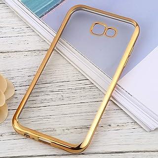 LENASH لهاتف Samsung Galaxy A7 (2017) غطاء حماية ناعم رقيق للغاية من مادة TPU جراب (اللون: ذهبي)