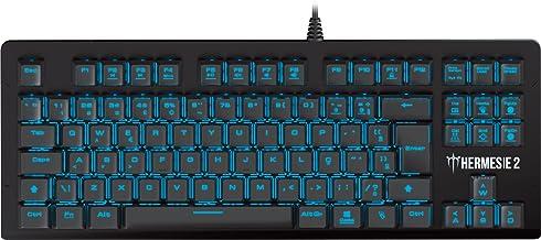 Teclado Mecanico Gamer Hermes E2 Preto Switch Red Led Azul