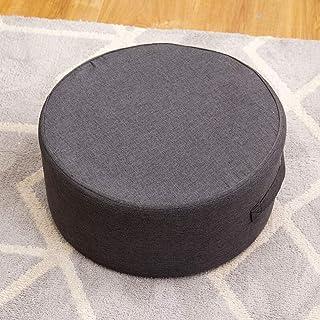 Simple Circular Footsool Otomanomadera Maciza Ropa De Algodón Salón Taburete De Mesa De Té Cambiar El Taburete Del Zapato...