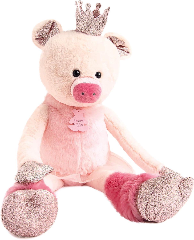 Histoire d'Ours Les Petit Twist HO2855 Cochon pinktte 60 cm Pink