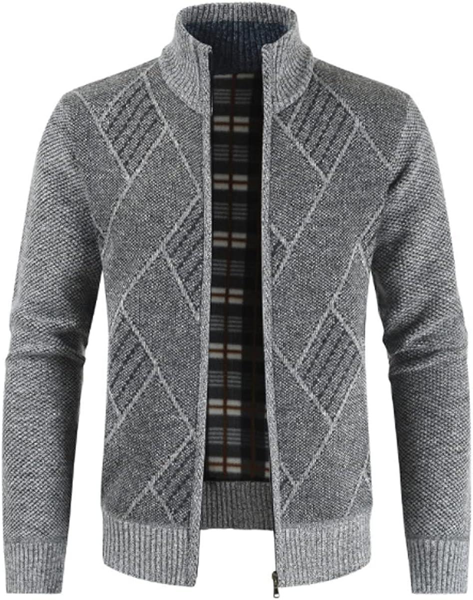 SENDEREAL 4 years warranty Men's Latest item Winter Leisure Slim Knitted Zipper Full Thick Ja