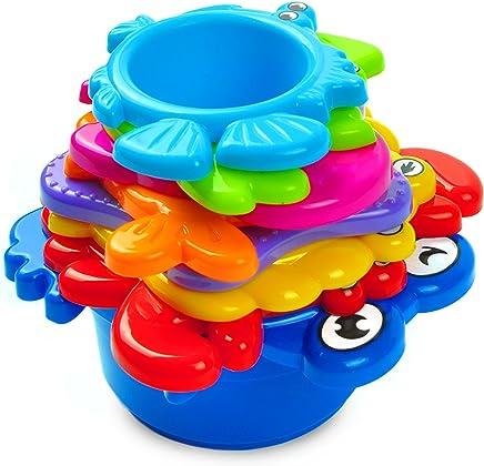 aGreatLife Juguetes Bañera Para Bebes: El Mejor Agua Juguete Educacional para Baño para Bebés e Infantes – Animales del Fondo del Mar Divertidos con Colores Vibrantes – Con Pegatinas Gratis de Todos los Colores for Bath Toys