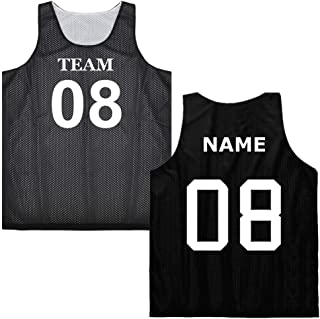 Custom Basketball Jersey (Both Sides Name/Number) Reversible Mesh Tank Top Scrimmage Jersey