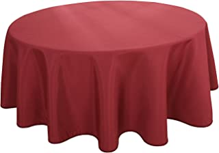 HIGHFLY Linen Round Tablecloth 60 Inch Waterproof Wine Tablecloth for Home Kitchen Dining Room