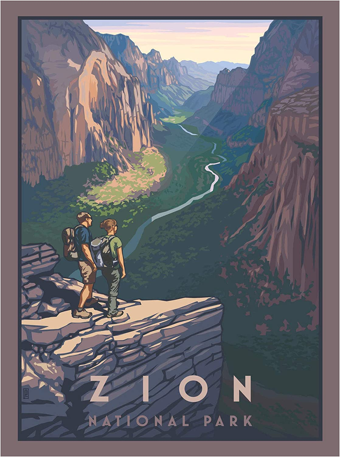 Zion Canyon National Overseas parallel import regular item Popular standard Park Giclee Poster Tra Print from Art
