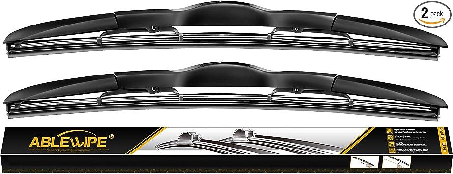 "ABLEWIPE Windshield wiper blades Bracketless Beam Hybrid U J-hook wiper 26"" + 20"" Winter Summer Wiper Car Windshield wiper blades NO.19223-2 (set of 2): image"