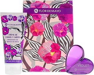Flor de Mayo Set de fragancias para mujeres (Cristal Purple Flower) - 2 piezas
