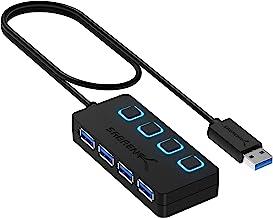 Sabrent Concentrador USB 3.0 con 4 Puertos con interruptores de alimentación Individuales y Leds (HB-UM43)