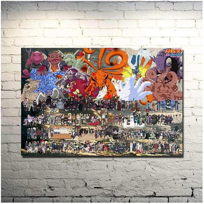 promociones de equipo KPWAN ImpresionessobreLienzo Naruto 1 Unidades Decoración para El Hogar Foto Foto Foto Moderno Creativo Anime Poster Sala De Estar Arte De La Parojo Pintura De La Lona(B) Sin Marco  Venta barata