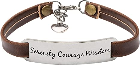 UNQJRY Inspirational Bracelets for Women Personalized Gifts for Her Leather Wrap Bracelet