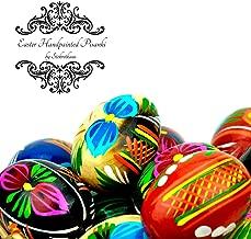 STOKROTKAUS Wooden Easter Pisanki Polish Painted Decorative Eggs in Box (4)