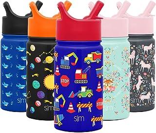 Simple Modern Kids Summit Botella de Agua para Niños Taza Termica Aislada con Tapa Prueba de Fugas y 2 Pajitas Reutilizabl...