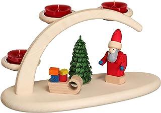 Seiffener Volkskunst German Candle Arch Christmas, Length 25 cm / 10 inch, Natural, Original Erzgebirge by Seiffener Volks...