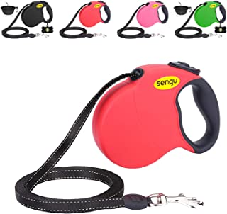 Retractable Dog Leash 16ft, Strong Durable, Walking Leash Large Medium Small Dogs 110lbs, Comfortable Anti-Slip Handle, Reflective Ribbon Cord, One Hand Operation YujueShop