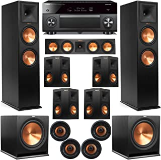Klipsch 11.2 Dolby Atmos Home Theater System with RP-280F Tower Speakers, 450C Center, R-115 Subs, 250s Surround, CDT-5800CII Ceiling, with RX-A3070 Receiver