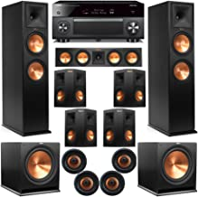 Klipsch 11.2 Atmos Home Theater System with RP-280F Tower Speakers, 450C Center, R-115 Subs, 250s Surround, CDT-5800CII Ce...