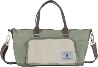 Humble-Bee Lightweight Diaper Bag Compact Expandable Stylish Mommy Organizer Water Repellant Tote with Removable Shoulder Strap and Stroller Straps - Mini Charm Olive Green Dusk