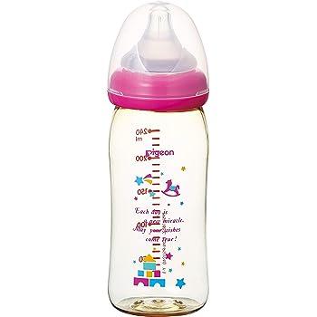 【プラスチック製 240ml】 ピジョン Pigeon 母乳実感 哺乳びん トイボックス柄 0ヵ月から(付属の乳首は3ヵ月頃から) おっぱい育児を確実にサポートする哺乳びん