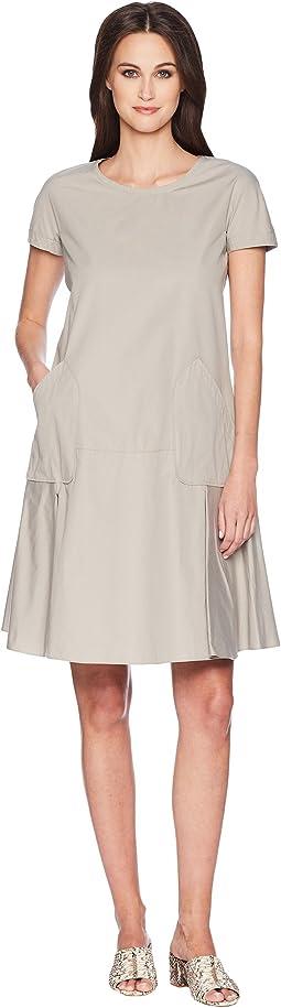 Jil Sander Navy Short Sleeve Cotton Dress