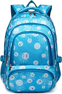 BLUEFAIRY Cute Backpack for Girls Little Kids School Bags for Kindergarten Bookbags with Frozen Snow Print Gifts (Blue)