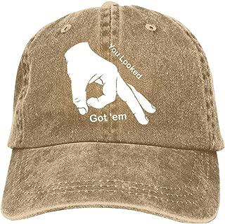 You Looked Baseball Cap Unisex Washed Cotton Denim Hat Adjustable Caps Cowboy Hats