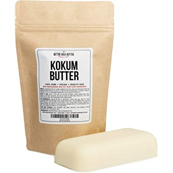 Kokum Butter - Light, Firm Butter, Use to Make Soap, Lotion Bars, Lip Balm, Body Butter - Scent-Free - 8 oz by Better Shea Butter