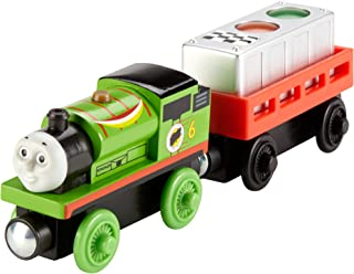 Fisher-Price Thomas & Friends Wooden Railway, Ready, Set, Race Percy - Battery Operated