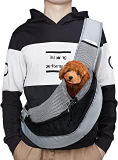 AIMENG Pet Sling Carrier, Pet Front Pack Hands Free Sling Purse for Small Dogs Cats, Outdoor Travel Puppy Carrying Bag with Adjustable Shoulder Strap
