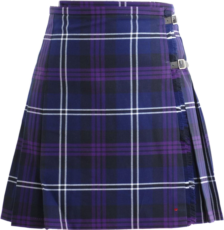 I LUV LTD Ladies Deluxe Mini Skirt Kilt Heritage of Scotland Tartan