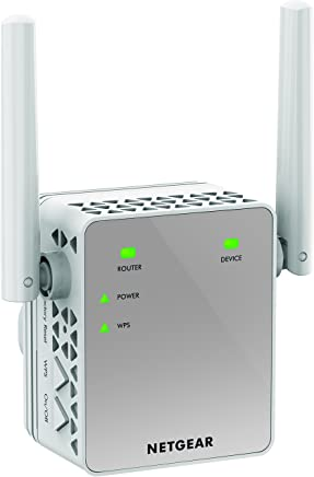 NETGEAR Wi-Fi Range Extender EX3700 - Coverage up to 1000 sq.ft. and 15 devices with AC750 Dual Band Wireless Signal Booster/Repeater (up to 750 Mbps) and Compact Wall Plug Design with UK Plug