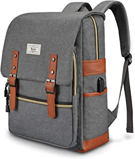 Unisex College Bag Fits up to 15.6'' Laptop Casual Rucksack Waterproof School Backpack Daypacks (Gray)