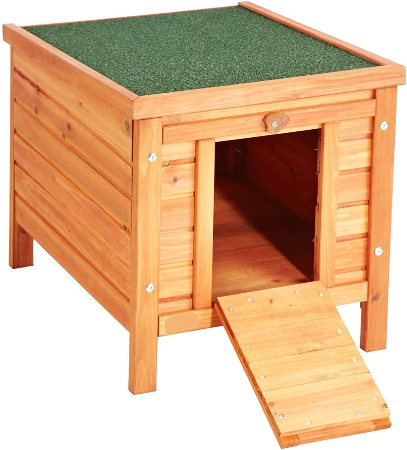 BUNNY BUSINESS Rabbit Guinea Pig Hide House Run Hutch, 42 × 43 × 51 cm