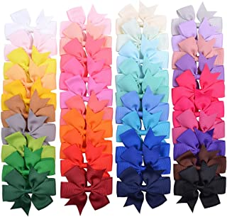 40Pcs 3'' Baby Girls Hair Bows Grosgrain Boutique bow Clips For Teens Toddlers Kids Children infants