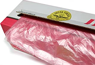 Insta Finish Corona Treated Pink Plastic Sheeting, 16 ft x 400 ft, Auto Body Masking Film, Overspray Protection, Fits Vans and SUVs Vehicles, Tear and Rip Resistant Polyethylene Film, KAS-16X400