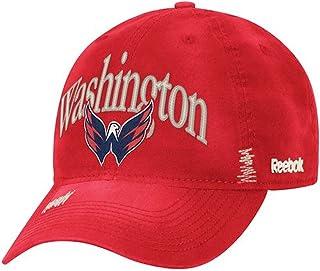 Reebok NHL Washington Capitals Garment Wash Adjustable Slouch Hat - Red ER82Z