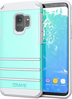 S9 Case, Crave Strong Guard Protection Series Case for Samsung Galaxy S9 - Mint/Grey