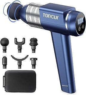 Toncur Pistolet de Massage Musculaire, Masseur Musculaire Ultra Silencieux 35 dB, Appareil Massage avec 30 Vitesse Réglabl...