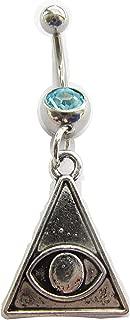 Egyptian Belly Button Ring, Eye of Horus Belly Jewelry,belly button jewelry,girlfriend belly ring, navel ring