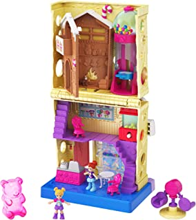 Pollyville Candy Store with 4 Floors, 2 Dolls and 5 Accessories