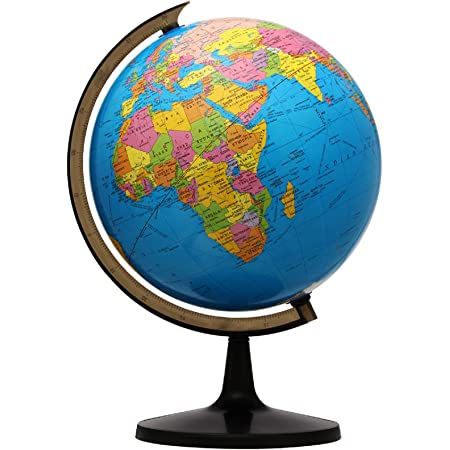 KingSo World Globe, 13'' Globe of Perfect Spinning Globe for Kids, Geography Students, Teachers, Easy Rotating Swivel