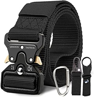 """RONGQI Tactical Belt,Military Style Quick Release Belt,1.5"""" Nylon Riggers Belts for..."""