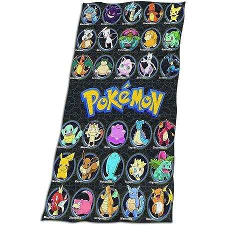 Kris.D Beach towel Pokemon Pikachu Beach Towels Bath Pool Towelfor Women Kids Girls Boys Adults Men