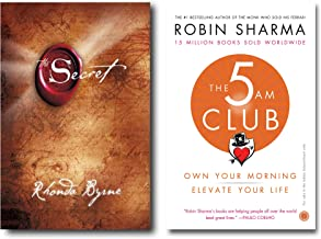 The Secret (Hardcover) + The 5 AM Club ( 2 Books Combo with Customized Bookmark)