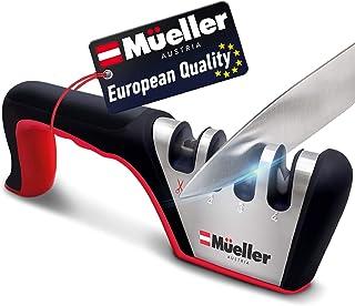 Mueller Original Premium Knife Sharpener, Heavy Duty 4-Stage Diamond Really Works for Ceramic and Steel Knives, Scissors. ...