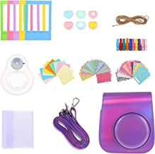 FRCOLOR Instant Print Camera Case Kit Mini Camera Bag with Neck Strap Compatible for Mini 11 Violet
