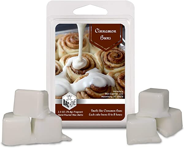 BAC Home Cinnamon Buns Soy Blend Scented Wax Cube Melts 2 5 Oz 6 Cubes