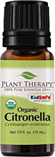 Plant Therapy Citronella Organic Essential Oil 100% Pure, USDA Certified Organic, Undiluted, Natural Aromatherapy, Therape...