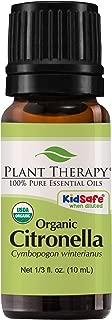 Plant Therapy Citronella Organic Essential Oil 100% Pure, USDA Certified Organic, Undiluted, Natural Aromatherapy, Therapeutic Grade 10 mL (1/3 oz)